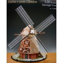 Maquette Moulin hollandais, en bois