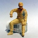 Figurines maquettes Pilote F1 assis