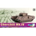 Miniature Churchill Mk.IV, A Squadron, North Irish Horse, Tunisie 1943, 2ème GM