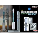 "Miniature Delta II Rocket w/Launch Pad ""Deep Impact"""