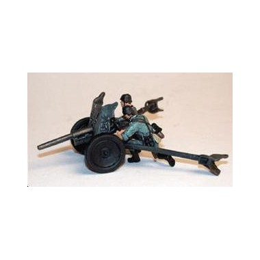 Miniature Canon allemand 37 PAK36 + 2 figurines, 2ème GM 1949