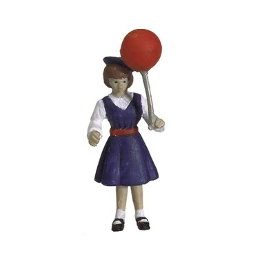 Figurine fillette avec ballon