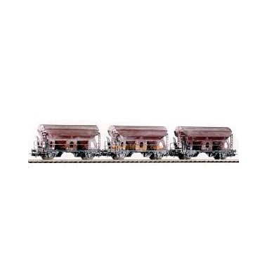 Wagons trémies aspect vieilli Ktmms 65 DB Epoque 3, kit 3 wagons