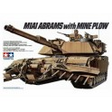 Maquette U.S. M1A1 Abrams with Mine Plow