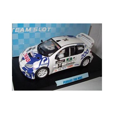 Team Slot voiture slot-car Peugeot 206 WRC Delecour 14 Tour de Corse 1999