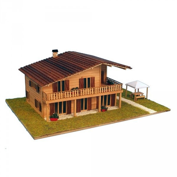 maquette a monter en bois chalet alpin francis miniatures. Black Bedroom Furniture Sets. Home Design Ideas