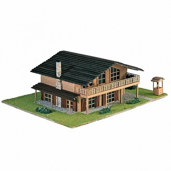maquette a monter en bois chalet de montagne francis miniatures. Black Bedroom Furniture Sets. Home Design Ideas