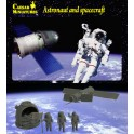 Figurines maquettes Astronaut and Spacecraft