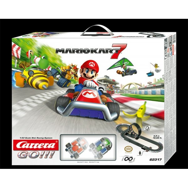 coffret circuit carrera go nintendo mario kart 7 1 43 francis miniatures. Black Bedroom Furniture Sets. Home Design Ideas