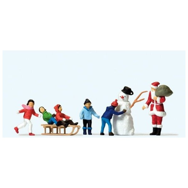 figurines pere noel enfants et bonhomme de neige francis miniatures. Black Bedroom Furniture Sets. Home Design Ideas