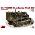 Maquette U.S.Tractor D7 w/Towing Winch D7N