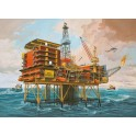 Maquette Off-Shore Oilrig North Cormorant